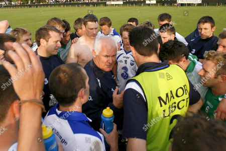 Gaelic Football - GAA All-Irerland Senior Championship Qualifier Round 2 - London vs Waterford Waterford's manager John Owens gives a team talk after their win at Emerald GAA Grounds - Ruislip