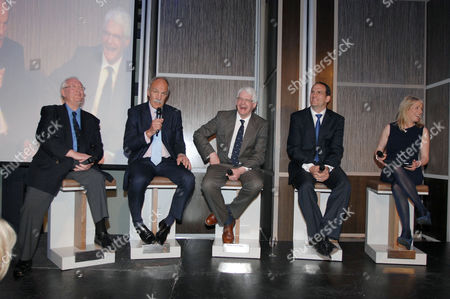 Rugby Union - Lord's Taverners Tribute Dinner to The Winning British Lions - Grange Tower Bridge Hotel Guest speakers : L to R John Dawes (Wales) Roger Uttley (England) Finlay Calder (Scotland) Martin Johnson (England)