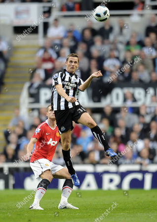 Football - Premier League - Newcastle United vs Manchester United Peter Lovenkrands (Newcastle United) at St James' Park