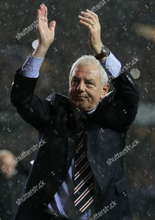 Football - Scottish Premier League - Rangers vs Dundee United Rangers manager Walter Smith walks round the pitch taking the applause of the fans after his last home game in charge of Rangers at the end of the Rangers vs Dundee United Clydesdale Bank Premier league match at Ibrox Stadium United Kingdom Glasgow