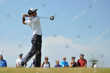 Golf - The Open 2011 - Royal St George's - Day 2 Eduardo Molinari (ESP) tees off on the 13th at Royal St George's Sandwich