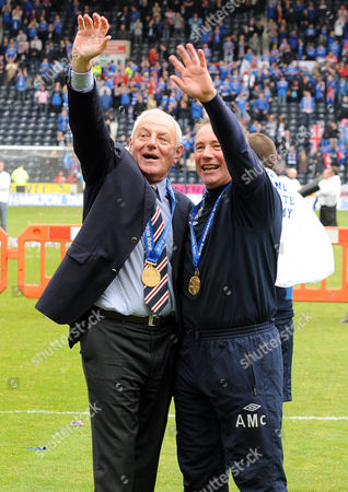 Football - Scottish Premier League - Kilmarnock vs Rangers Walter Smith (Rangers manager) and his number 2 Ally McCoist at Rugby Park