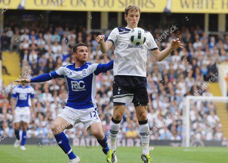 Football - Premier League -Â Tottenham Hotspur - Birmingham City 22/05/2011 Barry Ferguson(Birmingham) Roman Pavlyuchenko (Tott)