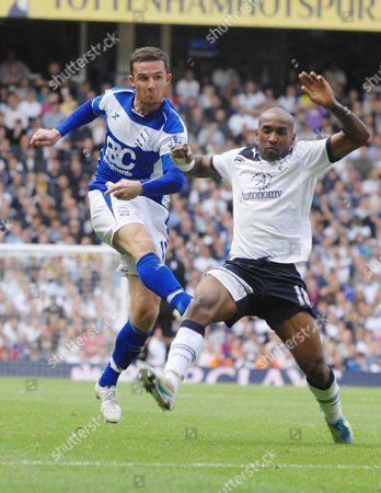 Football - Premier League -Â Tottenham Hotspur - Birmingham City 22/05/2011 Barry Ferguson(Birmingham) Jermain Defoe (Tott)