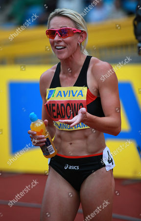Athletics - UK Trials and Championships Jenny Meadows after winning the womens 800m