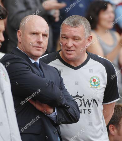 Football - Premier League - West Ham United vs Blackburn Rovers 07/05/2011 Steve Kean Blackburn Manager - left and coach John Jensen