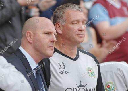 Football - Premier League - West Ham United vs Blackburn Rovers 07/05/2011 Steve Keane Blackburn Manager - left and coach John Jensen