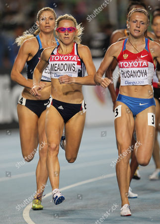 Athletics - World Championships 2011 - Daegu - Day Seven Jenny Meadows of Great Britain competes in the heats of the 800m during day seven of The Athletics World Championships in Deagu South Korea on 2nd September 2011 Right is Russia's Yulia Rusanova (later Stepanova) Rusanova was banned in 2013 due to abnormalities in her biological passport and all her results from two years before were forfeited In 2014 she and her husband Vitaliy Stepanov a former employee of the Russian Anti-Doping Agency (RUSADA) appeared in a documentary by Hajo Seppelt for the German TV network Das Erste accusing the Russian sports system of large-scale doping fraud  South Korea Deagu
