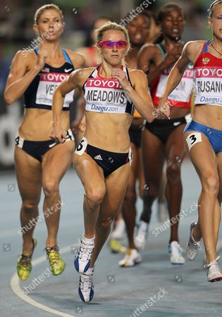 Athletics - World Championships 2011 - Daegu - Day Seven Jenny Meadows of Great Britain competes in the heats of the 800m during day seven of The Athletics World Championships in Deagu South Korea on 2nd September 2011  South Korea Deagu