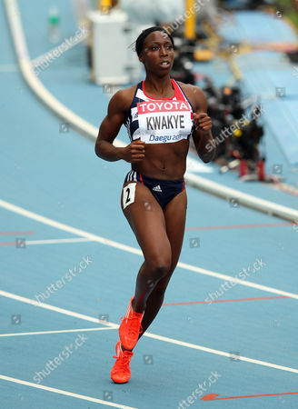Athletics - World Championships 2011 - Daegu - Day Two Jeanette Kwakye of Great Britain competes in the women's 100m heats during day two of The Athletics World Championships in Deagu South Korea on 28th August 2011  South Korea Deagu