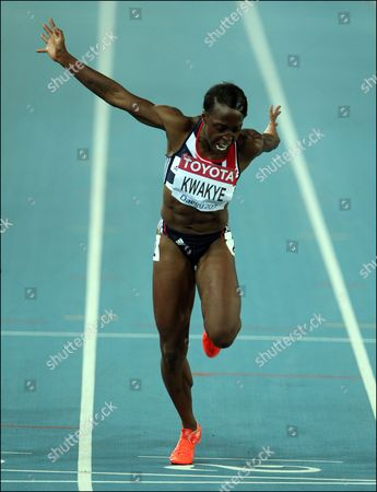 Athletics - World Championships 2011 - Daegu - Day Three Jeanette Kwakye of Great Britain competes in the semi final of the Women's 100m during day three of The Athletics World Championships in Deagu South Korea on 29th August 2011  South Korea Deagu