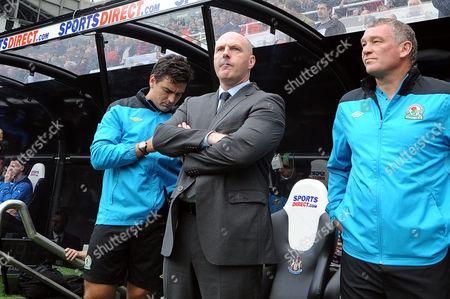 Football - Premier League - Newcastle United vs Blackburn Rovers Steve Kean (Blackburn Rovers manager) at St James' Park with assistant John Jensen (right)