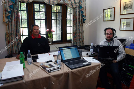 Golf - British Par Three Chamionship - Nailcote Hall Talksport's Darren Gough and Matt Smith