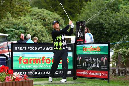 Golf - British Par Three Chamionship - Nailcote Hall Clayton Blackmore tees off from the 1st