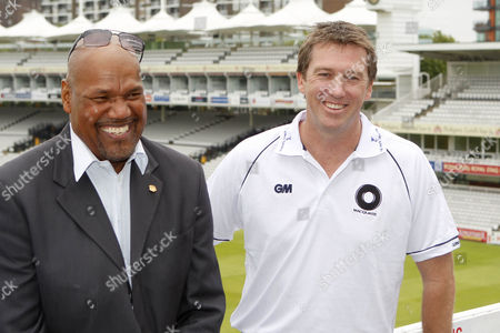 Cricket - The Lord's Taverners Fast Bowlers Dinner - Photo Call West Indies Colin Croft and Australian Glenn McGrath at Lord's Cricket Ground
