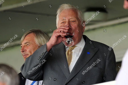 Football - League One - Hartlepool vs Sheffield Wednesday Wednesday fan Roy Hattersley enjoys a drink before watching the game at Victoria Park UK