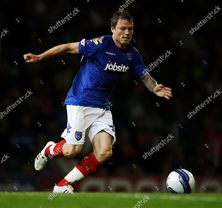 Stock Image of Football npower Championship Portsmouth vs Peterbrough at Fratton Park Portsmouth's Bjorn Helge Riise 27/09/2011