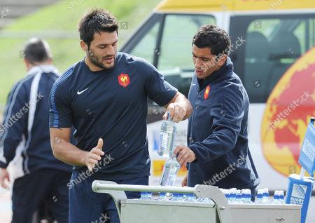 RWC French training Auckland Fabrice Estebanez and Maxime Mermoz - France