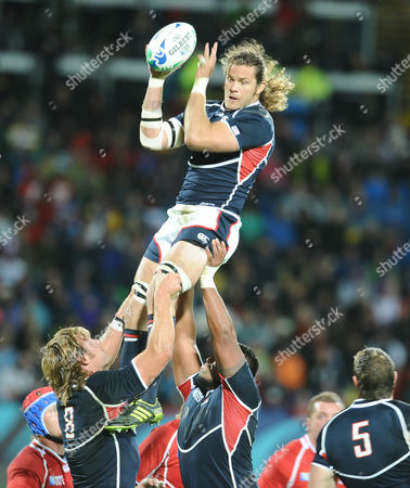 Rugby Union - Rugby World Cup 2011 - Russia v USA 15/09/2011 Todd Clever (USA at Line out