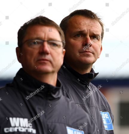 Football - Blue Sq Premier - Stockport County vs Mansfield Dietmar 'Didi' Hamann and his assistant Willie McStay at Edgeley Park