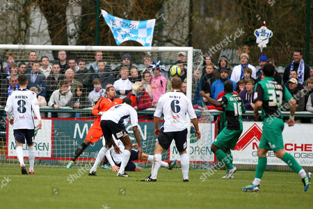 Football - FA Cup Second Round - AFC Totton vs Bristol Rovers Joe Anyinsah of Bristol Rovers fire in Bristols first goal at Testwood Stadium