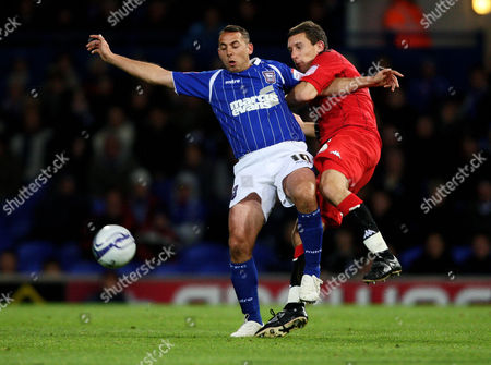 Football nPower Championship Ipswich Town vs Portsmouth at Portman Road Ipswich Town's Michael Chopra battles with Portsmouth's Jason Pearce 18/10/2011