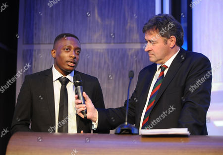 Stock Picture of Rugby Union - Lord's Taverners Tribute Dinner to The Winning British Lions - Grange Tower Bridge Hotel Chris Cowdrey with young lad