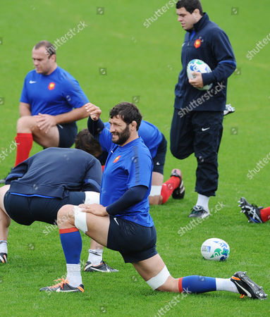 RWC : France training pre : Wales match Auckland Takapuna Lionel Nallet - France