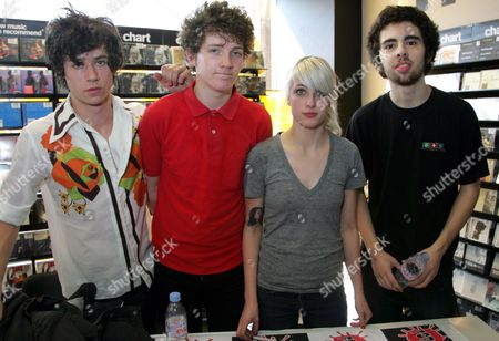 Editorial photo of Be Your Own Pet 'Get Awkward' album signing at Fopp, Bristol, Britain - 27 Mar 2008