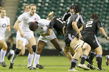 Women's Rugby Union - England vs New Zealand England's Margaret Alphonsi in posession of the ball at Twickenham
