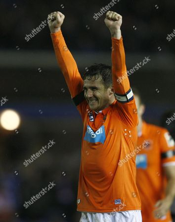 Football - Championship play off semi final second leg- Birmingham City vs Blackpool - Blackpool's Barry Ferguson celebrates at St Andrews