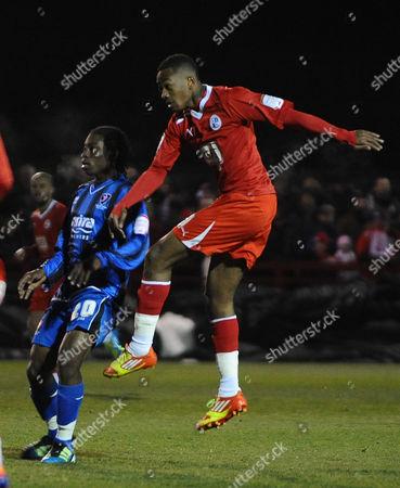 Football - League Two - Crawley Town vs Cheltenham Town Sanchez Watt - Crawley scores goal no 1 Watt is on loan from Arsenal