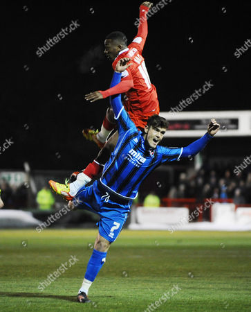 Football - League Two - Crawley Town vs Cheltenham Town Marlon Pack - Cheltenham Sanchez Watt - Crawley