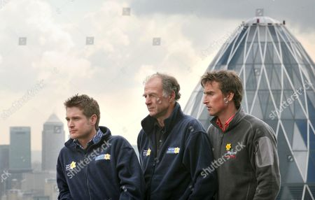 Sir Ranulph Fiennes with Dr Rob Casserley and high altitude camerman and expedition leader Kenton Cool