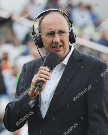 Cricket - 2015 Australia Tour of England - Third Ashes Test at Edgbaston BBC Test Match Special radio broadcaster Jonathan Agnew during the morning session of the first day's play