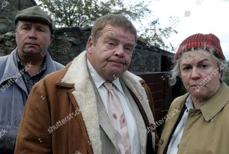 'Heartbeat'   TV  - 2007   Pictured David Stockwell (David Lonsdale), Vernon Scripps (Geoffrey Hughes) and Peggy Armstrong (Gwen Taylor)