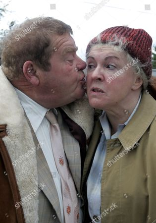 'Heartbeat'   TV  - 2007   Pictured  Vernon Scripps (Geoffrey Hughes) and Peggy Armstrong (Gwen Taylor)
