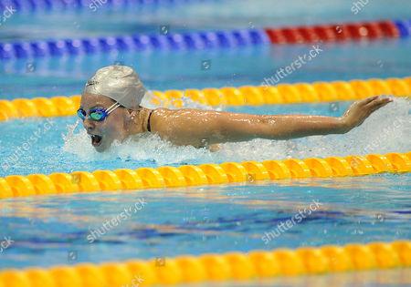 Swimming - British Championships & Olympic Trials - London Aquatic Centre Ellen Gandy (GBR) wins the Womens 200m Butterfly semi final