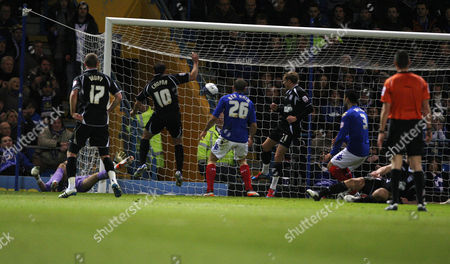 Editorial photo of Portsmouth 0 Ipswich 1 - 14 Feb 2012
