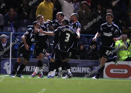 Football Npower Championship Portsmouth vs Ipswich Town at Fratton Park Ipswich's Michael Chopra celebrates scoring the opening goal 14/02/2012