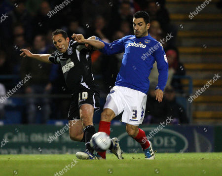 Football Npower Championship Portsmouth vs Ipswich Town at Fratton Park Portsmouth's Ricardo Rocha battles with Ipswich's Michael Chopra 14/02/2012