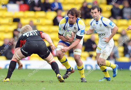 Editorial image of Saracens v Clermont - 08 April 2012