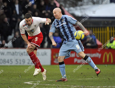 FA Cup 4th Round Stevenage Borough v Notts County Jon Ashton and Lee Hughes
