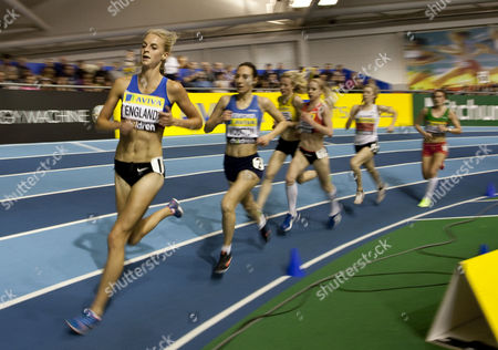 Athletics - UK Athletics Trials and Championships - English Institute of Sport Sheffield Hannah England during the Women's 3000m that she went on to win