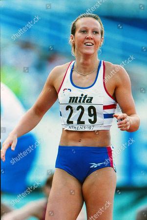 Athletics - World Athletics Championships Athens 1997 Womens 400m Allison Curbishley GBR