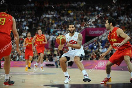Basketball - 2012 London Olympics - Men's Final: USA 107 Spain 100 Deron Williams of the USA at the North Greenwich Arena