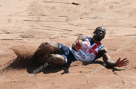 Athletics - European Championships - Helsinki JJ Jegede of Great Britain competes in the long jump during day Three of the European Athletics Champions in The Olympic Stadium Helsinki on 29th June 2012 Germany Helsinki