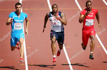 Athletics - European Championships - Helsinki Mark Lewis Francis of Great Britain compete's in the 100m heats during the European Athletics Champions in The Olympic Stadium Helsinki on 27th June 2012 Germany Helsinki