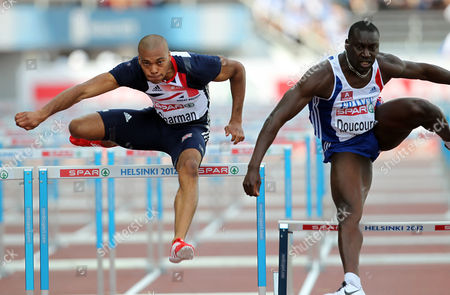 Athletics - European Championships - Helsinki William Sharman of Great Britain in action in the 110m hurdles semi final during Day Five of the European Athletics Champions in The Olympic Stadium Helsinki on 1st July 2012  Germany Helsinki