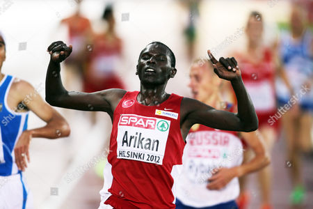 Athletics - European Championships - Helsinki Polat Kemboi Arikan of Turkey wins the 10000m during Day Four of the European Athletics Champions in The Olympic Stadium Helsinki on 30th June 2012  Germany Helsinki